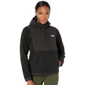 Hooded Black North Face Denali Jacket